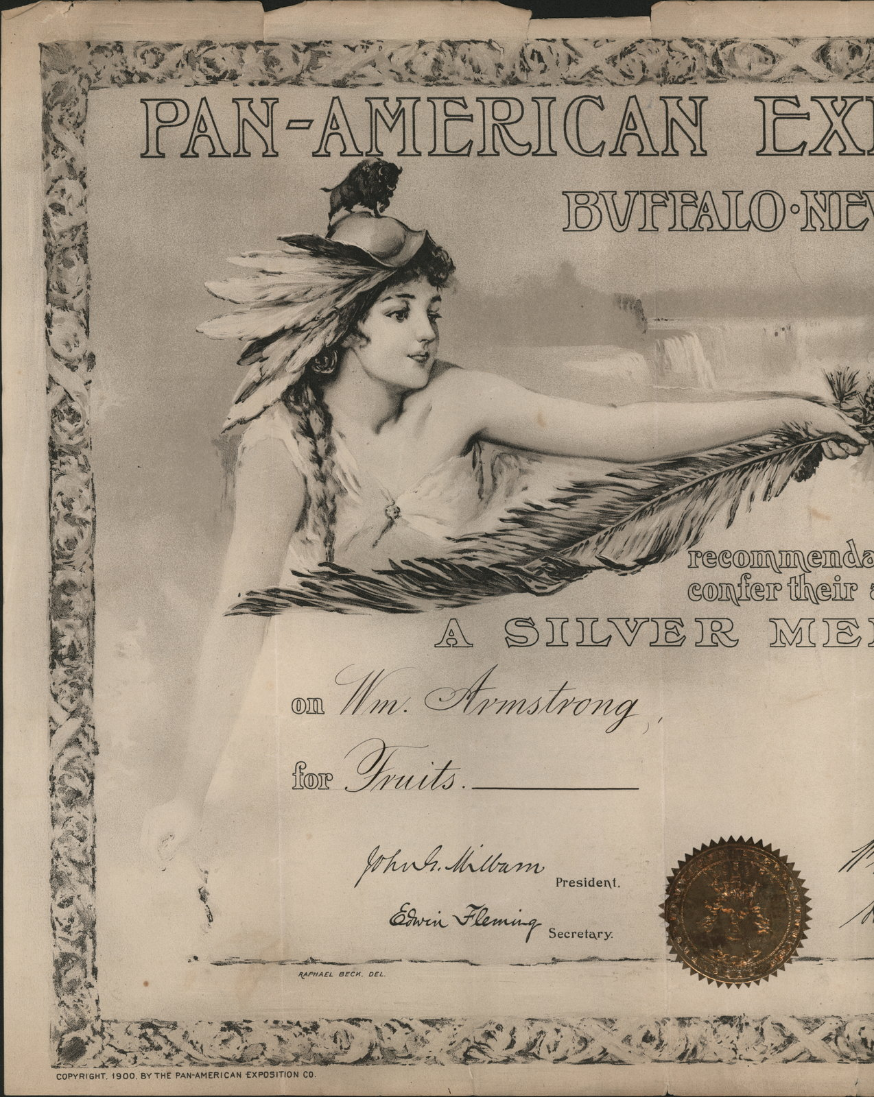 Pan-American Exposition, Silver Medal, William Armstrong