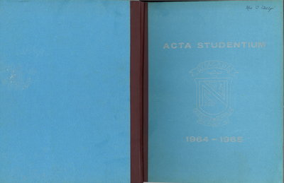 Niagara District Secondary School Yearbook (1964-1965)