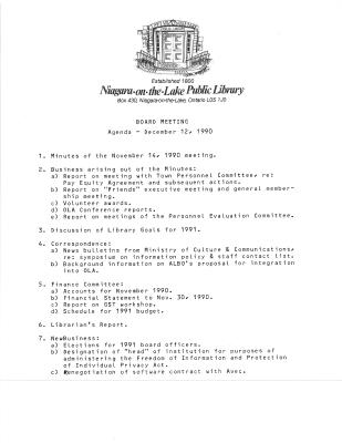 1990 Library Board Minutes (Pay Equity)