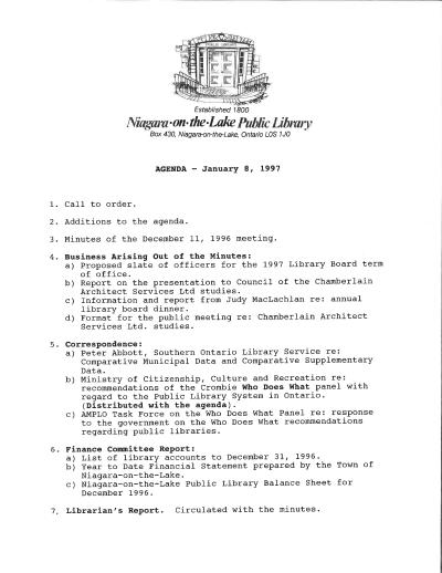 1997 Library Board Minutes