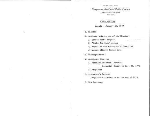 1979 Library Board Minutes