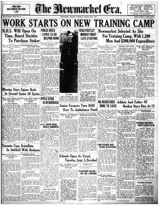 Newmarket Era (Newmarket, ON1861), August 22, 1940