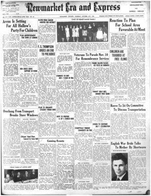 Newmarket Era and Express (Newmarket, ON), October 31, 1946