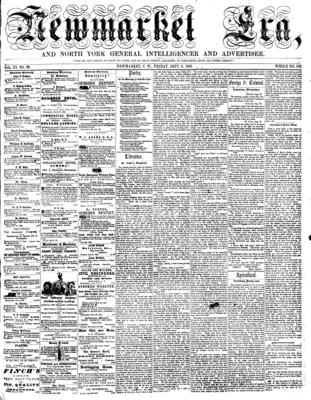 Newmarket Era (Newmarket, ON1861), 5 Sep 1862