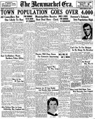 Newmarket Era (Newmarket, ON1861), 18 Nov 1937