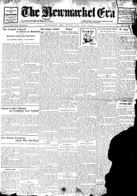 Newmarket Era (Newmarket, ON1861), 6 Feb 1931