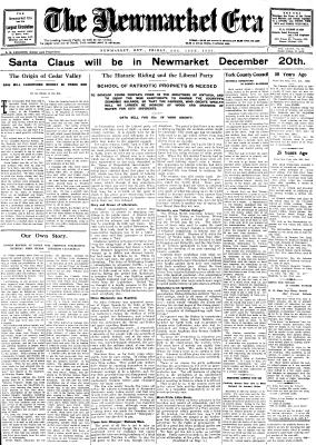 Newmarket Era (Newmarket, ON1861), 12 Dec 1930