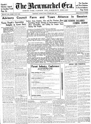 Newmarket Era (Newmarket, ON1861), October 30, 1931