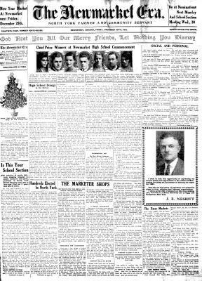 Newmarket Era (Newmarket, ON1861), 25 Dec 1931