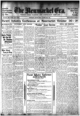 Newmarket Era (Newmarket, ON1861), 23 Oct 1931
