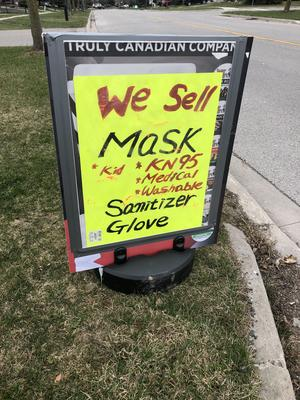 We sell mask. Sign at local store