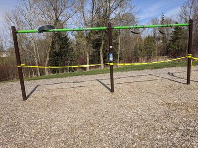 Swings at Beswick Park Closed