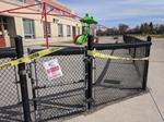 Rogers Public School. Playground closed