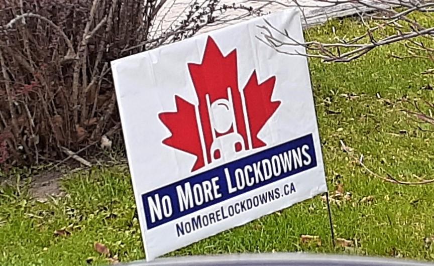 No more lockdowns sign