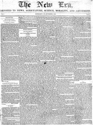 New Era (Newmarket, ON), September 3, 1852