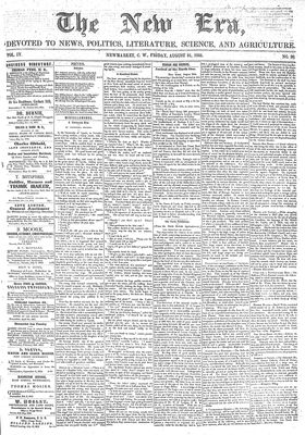 New Era (Newmarket, ON), August 31, 1855