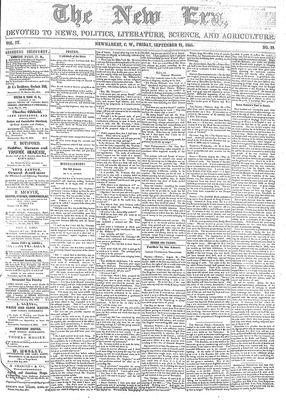 New Era (Newmarket, ON), September 21, 1855