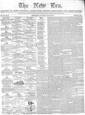 New Era (Newmarket, ON), July 22, 1859