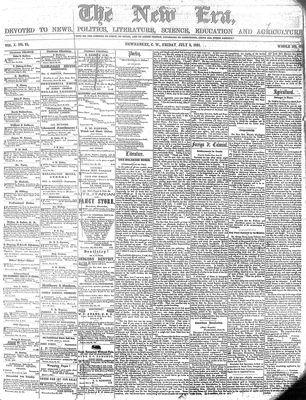 New Era (Newmarket, ON), July 5, 1861