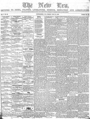 New Era (Newmarket, ON), July 12, 1861