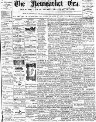 Newmarket Era (Newmarket, ON1861), March 27, 1874