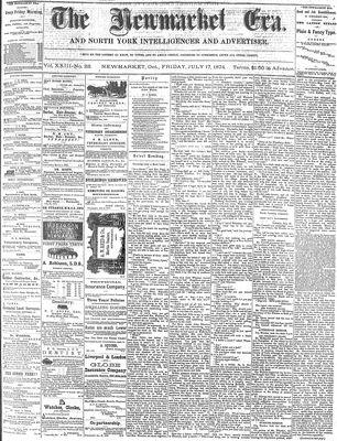 Newmarket Era (Newmarket, ON1861), July 17, 1874