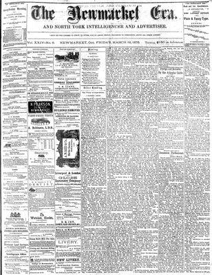 Newmarket Era (Newmarket, ON1861), March 19, 1875