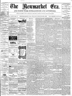 Newmarket Era (Newmarket, ON1861), March 26, 1875