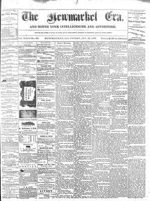 Newmarket Era (Newmarket, ON1861), October 15, 1875