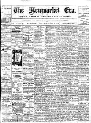 Newmarket Era (Newmarket, ON1861), November 19,1 875