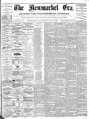 Newmarket Era (Newmarket, ON1861), December 10, 1875