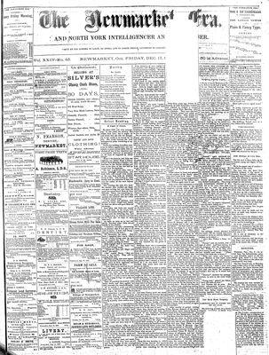 Newmarket Era (Newmarket, ON1861), December 17, 1875