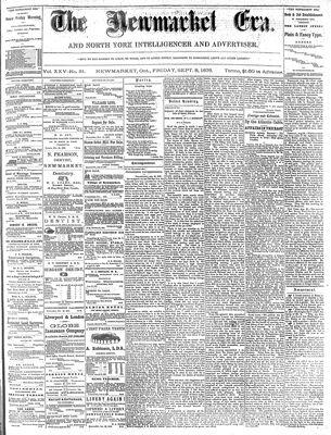 Newmarket Era (Newmarket, ON1861), 8 Sept 1876