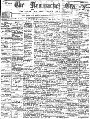 Newmarket Era (Newmarket, ON1861), March 9, 1877