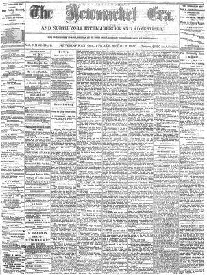 Newmarket Era (Newmarket, ON1861), April 6, 1877
