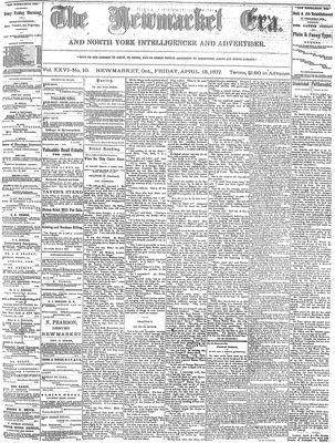 Newmarket Era (Newmarket, ON1861), April 13, 1877