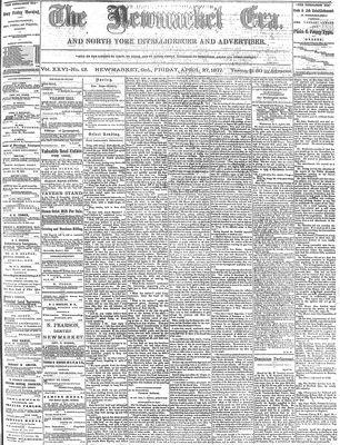 Newmarket Era (Newmarket, ON1861), April 27, 1877