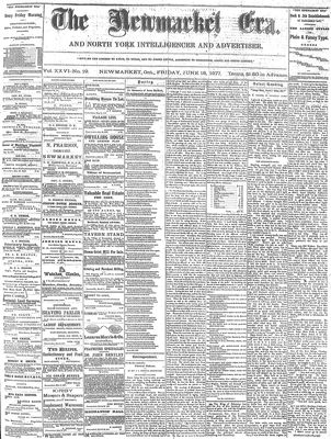 Newmarket Era (Newmarket, ON1861), June 15, 1877