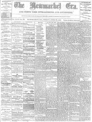 Newmarket Era (Newmarket, ON1861), June 22, 1877