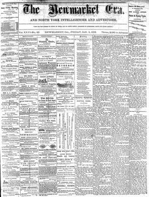 Newmarket Era (Newmarket, ON1861), January 4, 1878