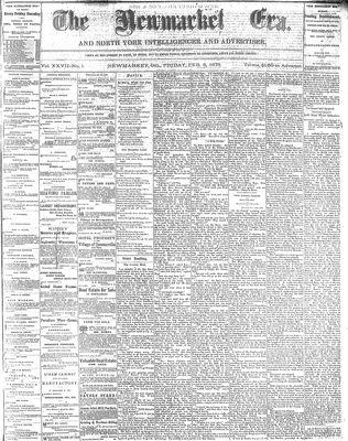Newmarket Era (Newmarket, ON1861), February 8, 1878