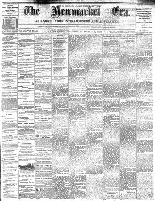 Newmarket Era (Newmarket, ON1861), March 8, 1878