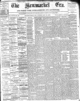 Newmarket Era (Newmarket, ON1861), October 18, 1878
