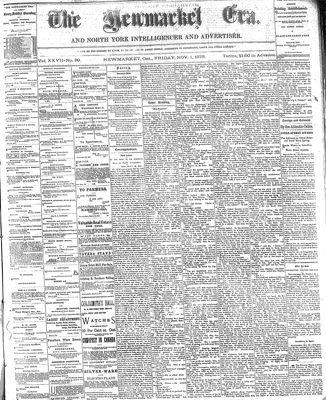 Newmarket Era (Newmarket, ON1861), November 1, 1878