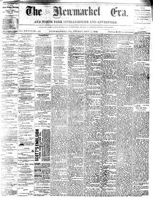 Newmarket Era (Newmarket, ON1861), November 7, 1879
