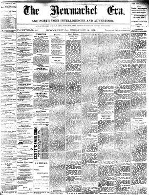 Newmarket Era (Newmarket, ON1861), November 14, 1879
