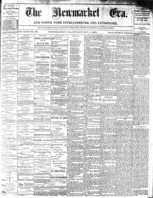 Newmarket Era (Newmarket, ON1861), October 1, 1880