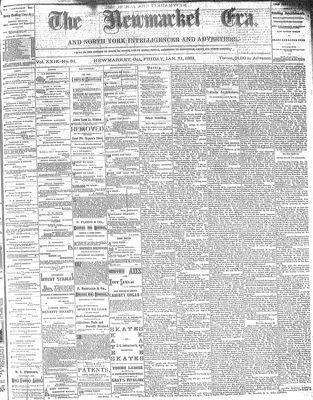 Newmarket Era (Newmarket, ON1861), January 21, 1881