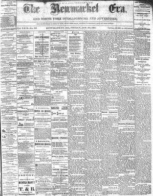 Newmarket Era (Newmarket, ON1861), January 28, 1881