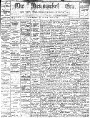 Newmarket Era (Newmarket, ON1861), April 15, 1881